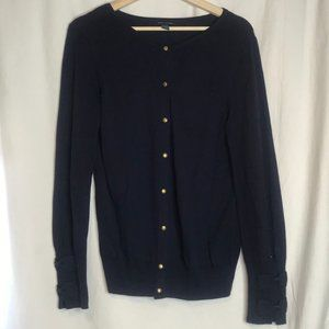 TOMMY HILFIGER Bow Button Up Cardigan Sweater M